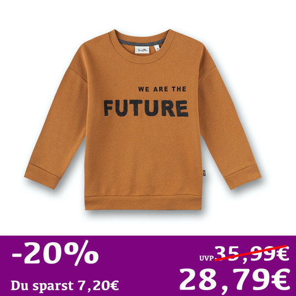 Sweatshirt WE ARE THE FUTURE! braun Sanetta PURE