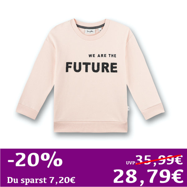 Mädchen Sweatshirt WE ARE THE FUTURE! rosa Sanetta PURE