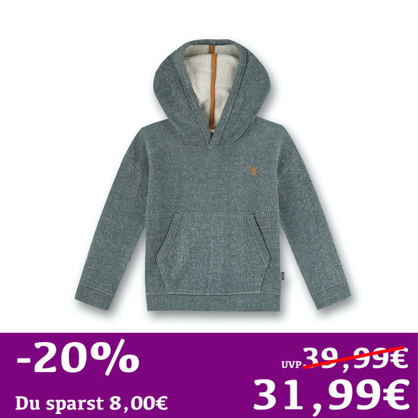 Kapuzen Sweatshirt Denim-Optik blau Sanetta PURE