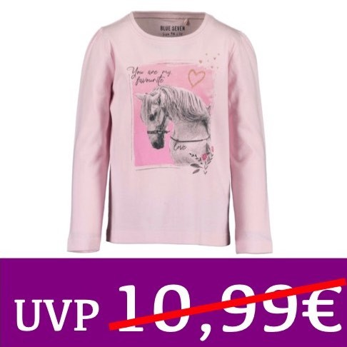 Langarm-Shirt Pferd YOU ARE MY FAVOURITE rosa BLUE SEVEN