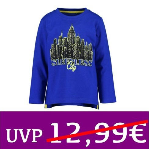 Langarm-Shirt fluoreszierend SLEEPLESS City blau BLUE SEVEN