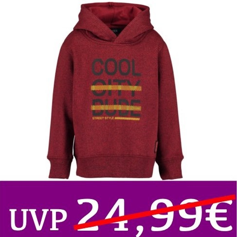 Kapuzen-Sweatshirt COOL CITY DUDES rot BLUE SEVEN