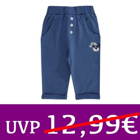 Sarouelhose cooler Hund HAPPY CAR FRIENDS blau JACKY